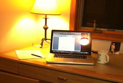 A clean and uncluttered workspace